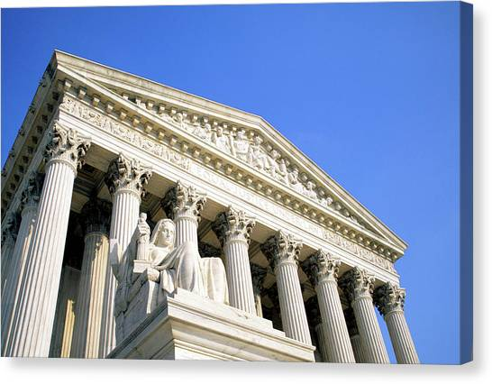 Us Supreme Court Building, Washington Dc Canvas Print
