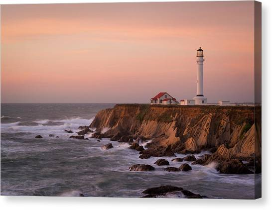 Usa, California, Point Arena Canvas Print