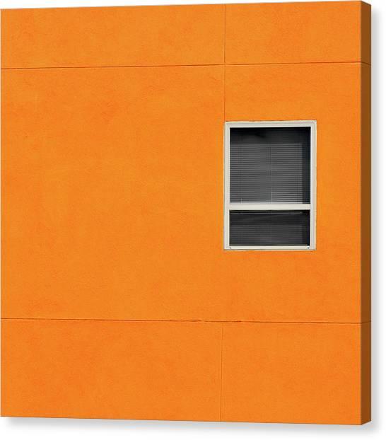 Very Orange Wall Canvas Print