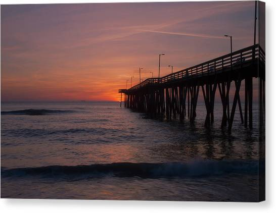 Canvas Print featuring the photograph Virginia Sunrise by Pete Federico