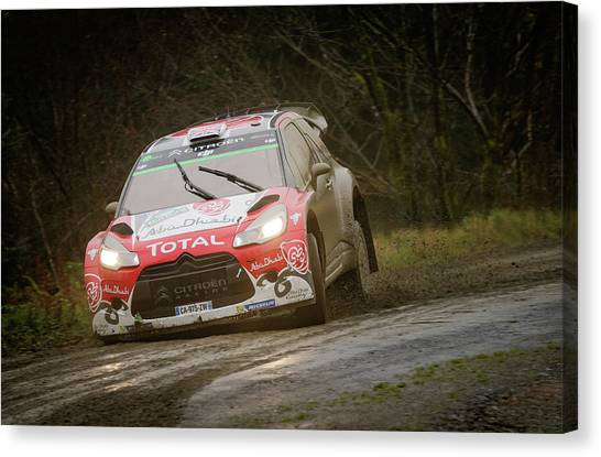 Canvas Print featuring the photograph Wales Rally 2016 by Elliott Coleman