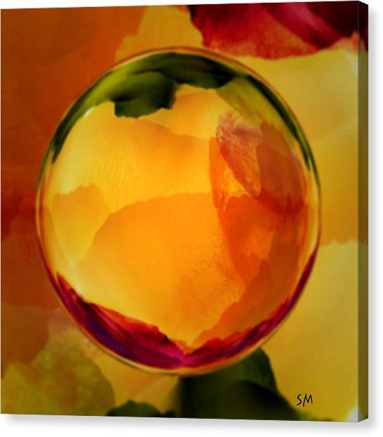 Watercolor Glass Marble  Canvas Print