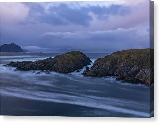 Waves At The Shore Canvas Print