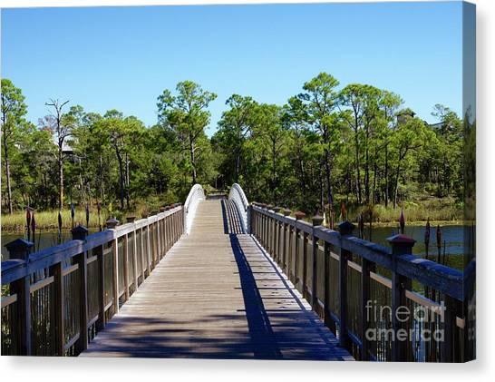 Canvas Print - Western Lake Bridge by Megan Cohen