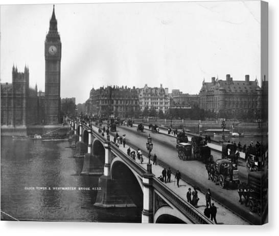 Westminster Bridge Canvas Print by London Stereoscopic Company