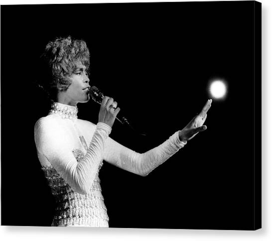 Soul Canvas Print - Whitney Houston Live In Concert by Raymond Boyd