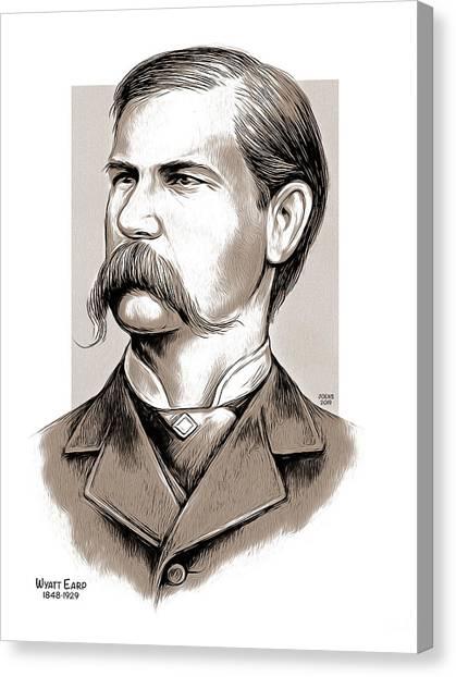 Cowboy Canvas Print - Wyatt Earp by Greg Joens