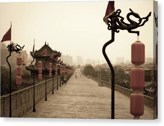 Xian City Wall, China Canvas Print by Fototrav
