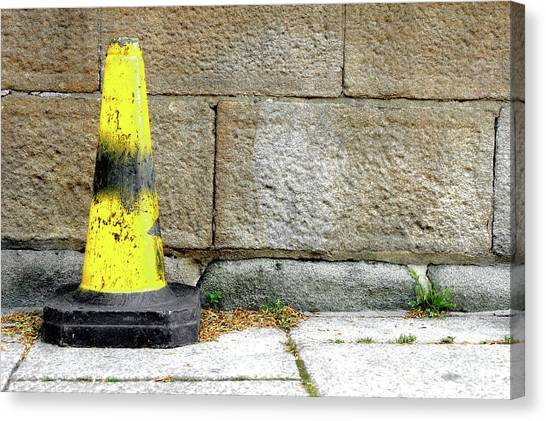 Canvas Print - Yellow Cone by Tom Gowanlock