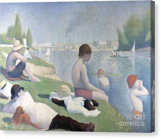 Bathers At Asnieres Canvas Print
