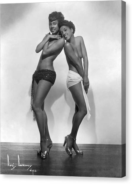 Brown Skin Models Canvas Print by Michael Ochs Archives