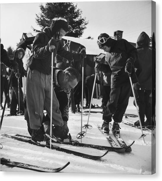 New England Skiing Canvas Print
