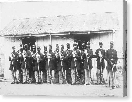107th Us Coloured Infantry Canvas Print by Archive Photos