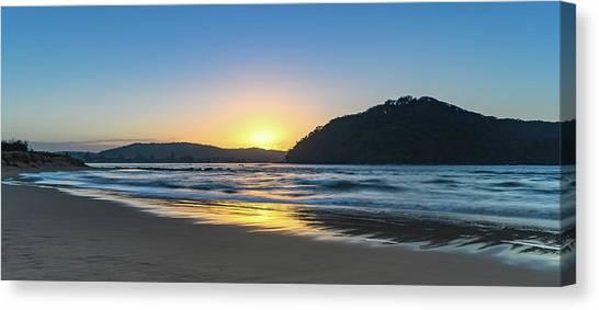 Hazy Sunrise Seascape Canvas Print
