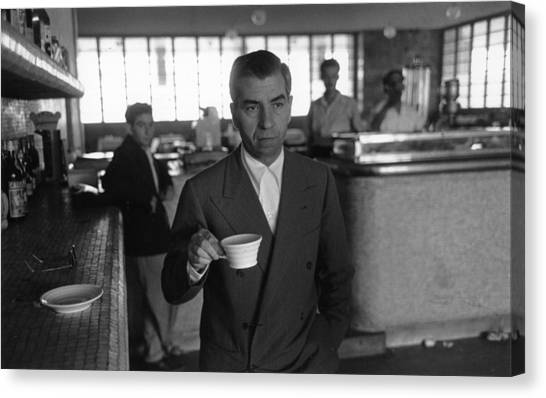 Lucky Luciano Canvas Print by Slim Aarons