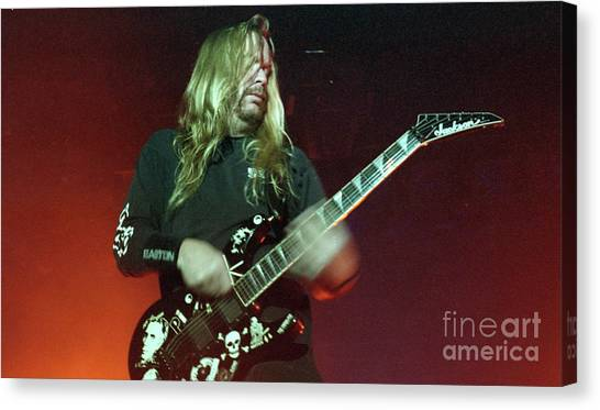 Jeff Hanneman Canvas Print - Slayer by Bill O'Leary