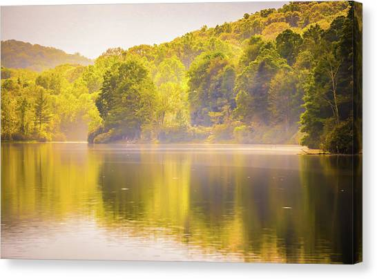 Canvas Print featuring the photograph Julian Price Lake, Along The Blue Ridge Parkway In North Carolin by Alex Grichenko
