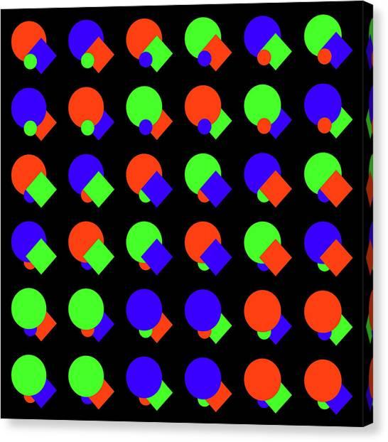 135 Circle And Square - Phi Canvas Print