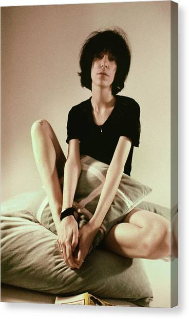 Patti Smith Portrait Session Canvas Print