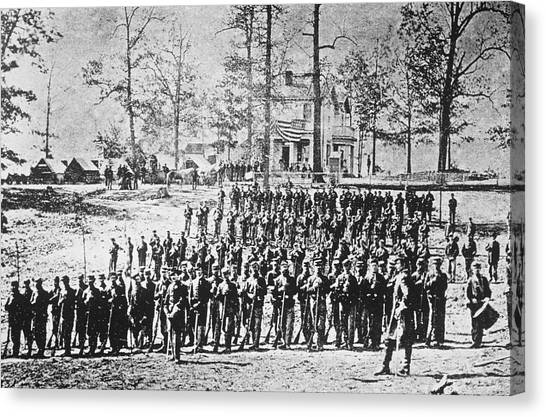 149th Ny Volunteer Regiment Canvas Print by Archive Photos