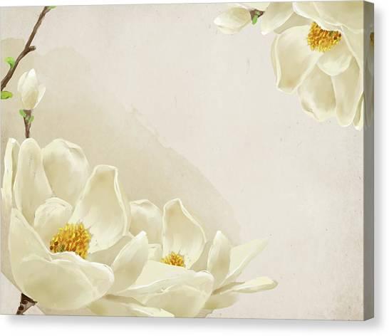 Peaceful Flower Canvas Print by Eastnine Inc.