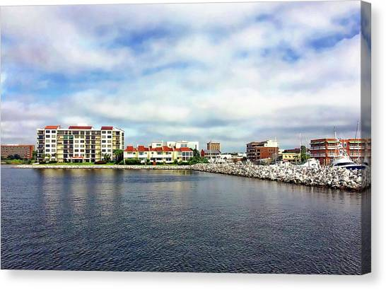 Canvas Print featuring the photograph Pensacola Bay by Anthony Dezenzio