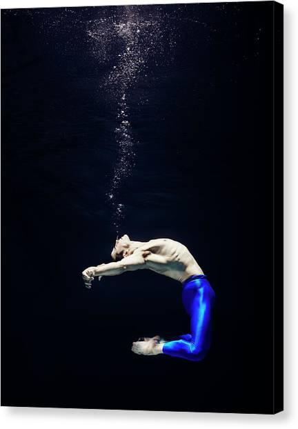 Ballet Dancer Underwater Canvas Print by Henrik Sorensen