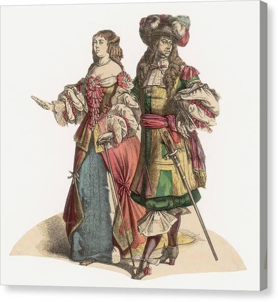 17th Century Fashion Canvas Print