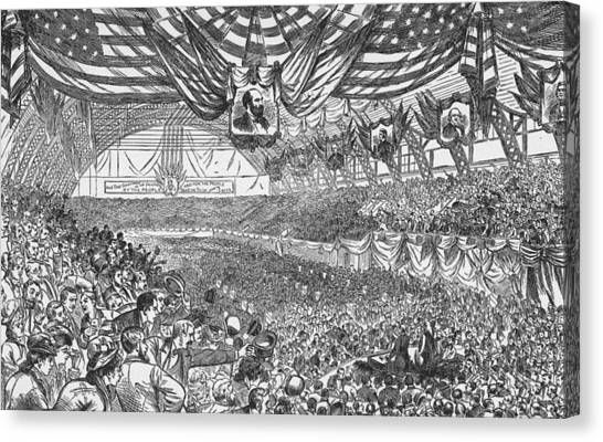 1884 Republican National Convention Canvas Print by Kean Collection
