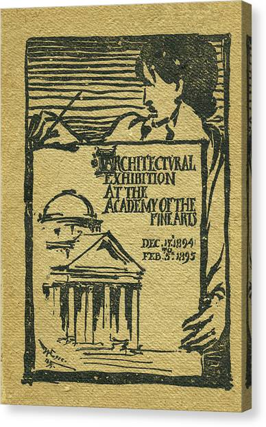 1894-95 Catalogue Of The Architectural Exhibition At The Pennsylvania Academy Of The Fine Arts Canvas Print
