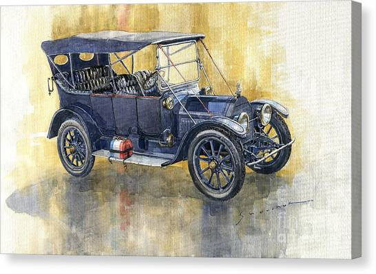 Touring Canvas Print - 1913 Cadillac Four 30 Touring by Yuriy Shevchuk