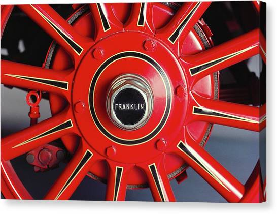 1925 Franklin Sport Runabout Wheel Canvas Print