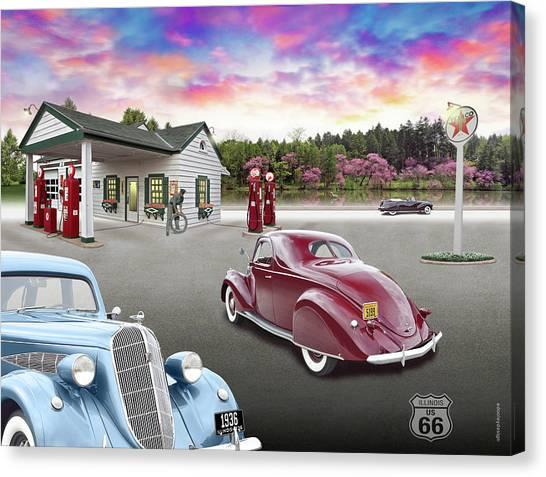 1930s Home Style Texaco Station Canvas Print