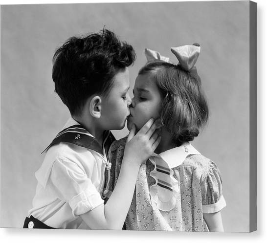 Canvas Print - 1930s Two Children Young Boy And Girl by Panoramic Images