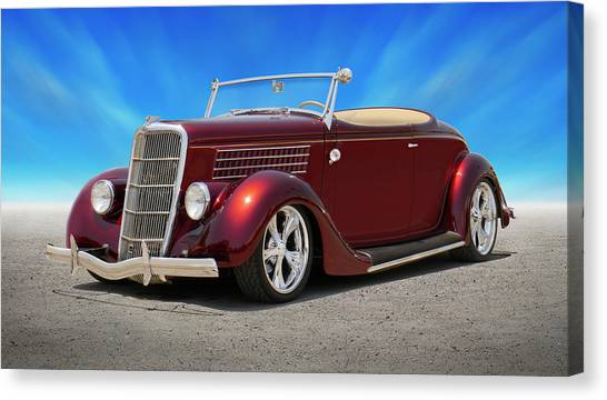 Street Rods Canvas Print - 1935 Ford Roadster by Mike McGlothlen