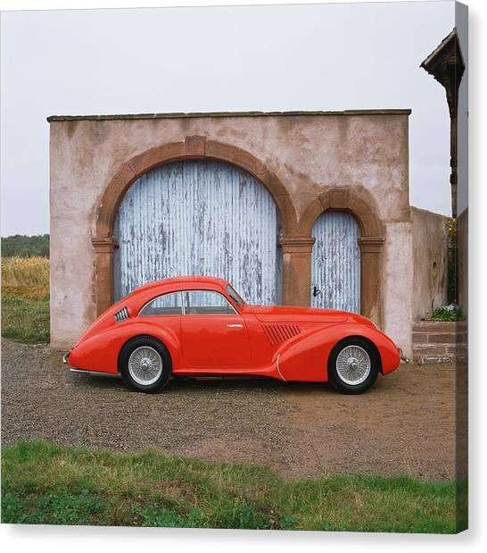 1936 Alfa Romeo 8c 2900 Coupe With Canvas Print