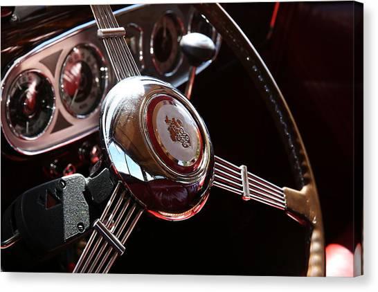 1937 Vintage Model 1508 Steering Wheel Canvas Print
