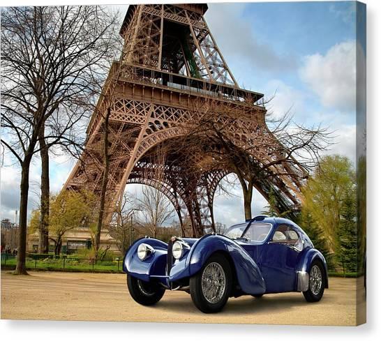 1938 Bugatti Type 57sc Electron Canvas Print