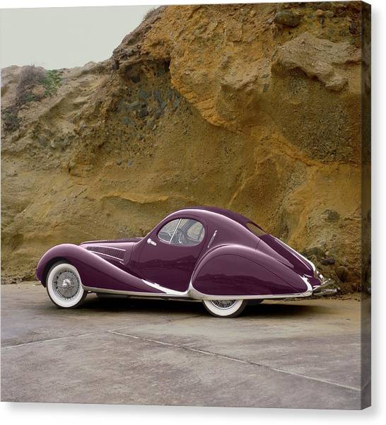 1939 Talbot-lago Model T 150 Ss With Canvas Print