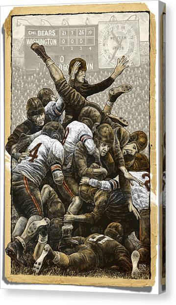 1940 Chicago Bears Canvas Print