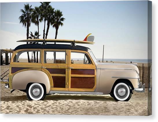 1948 Plymouth Special Deluxe Woodie Canvas Print