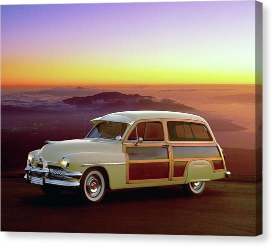 1951 Mercury Station Wagon Canvas Print