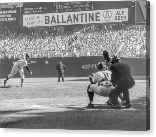 1956 World Series - Game 5  Brooklyn Canvas Print by The Stanley Weston Archive