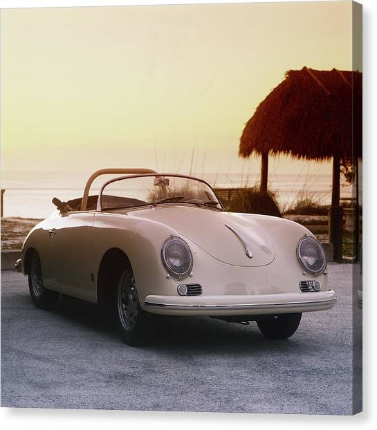 1958 Porsche 365a Carrera Gt Speedster Canvas Print by Car Culture