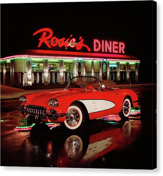 1960 Chevrolet Corvette Convertible Canvas Print by Car Culture