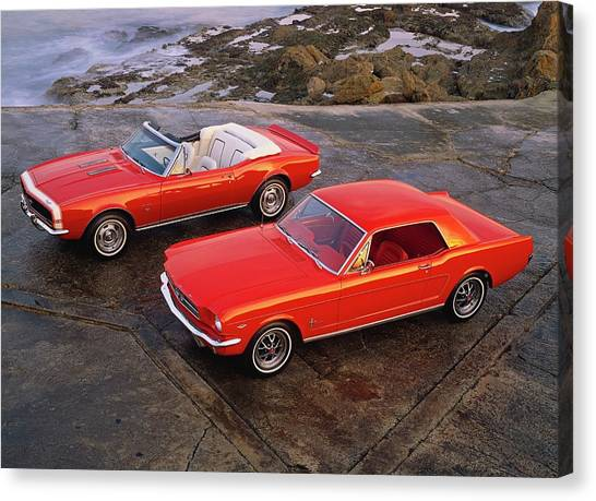 1964 12 Ford Mustang Hardtop Coupe 1967 Canvas Print