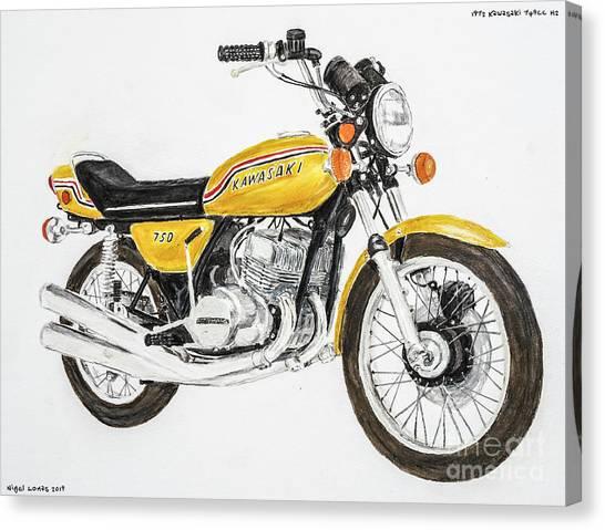 1972 Canvas Print - 1972 Kawasaki 750 H2 by Nigel Lomas