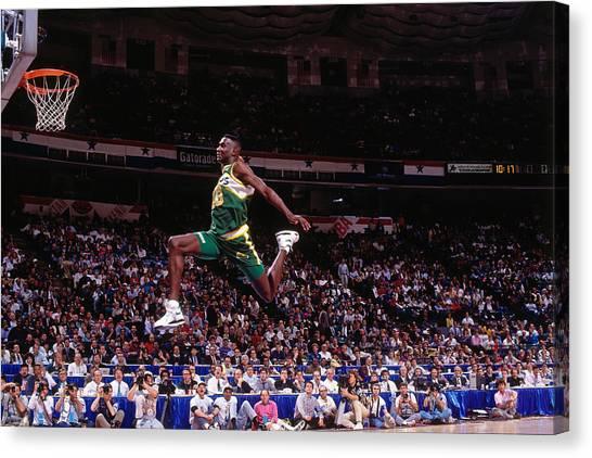 1991 Slam Dunk Contest Canvas Print