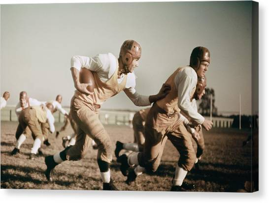 1930s High School Football Canvas Print