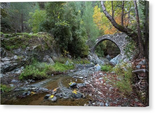 Ancient Stone Bridge Of Elia, Cyprus Canvas Print